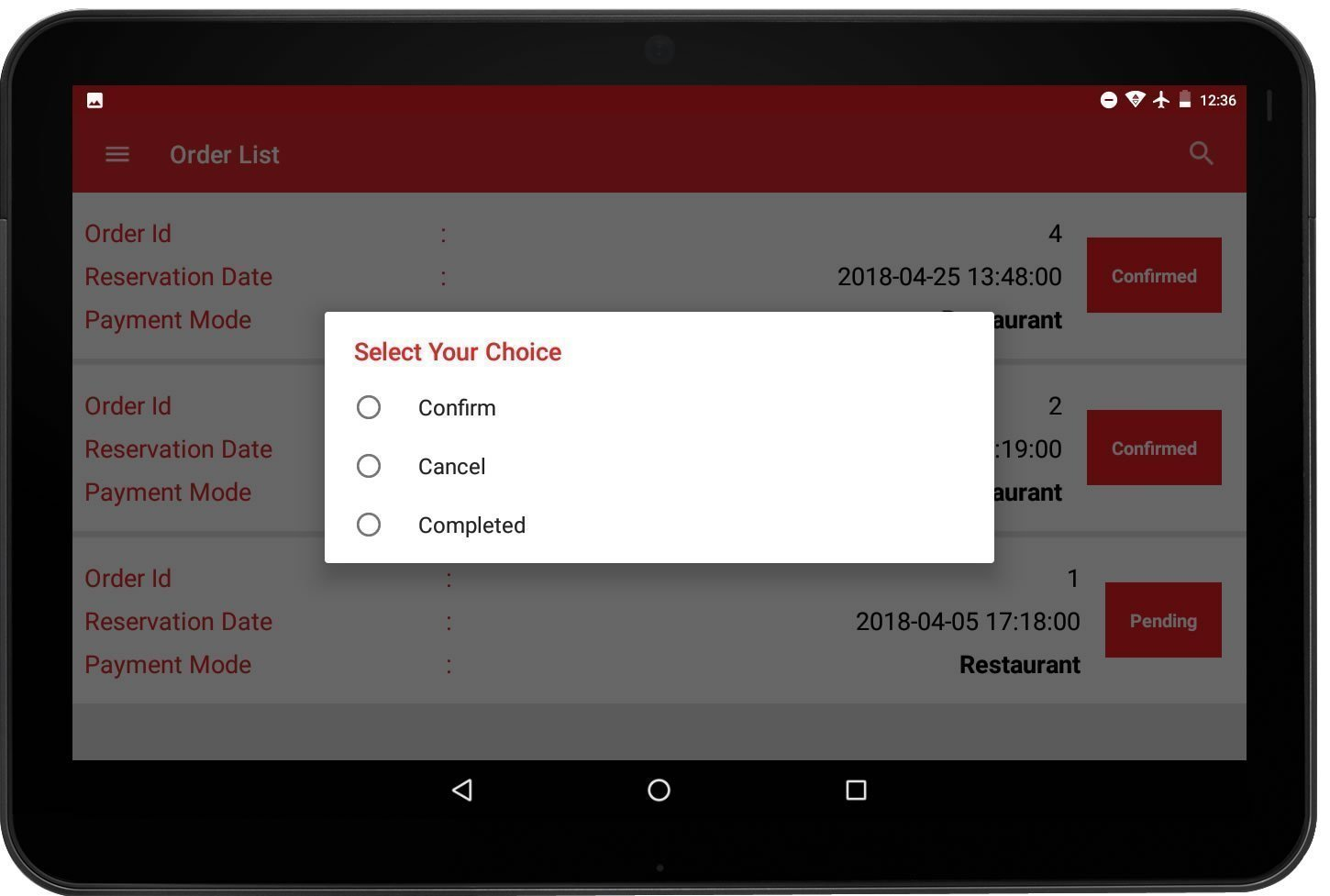 Table Reservation Mobile App For Restaurants Readymade