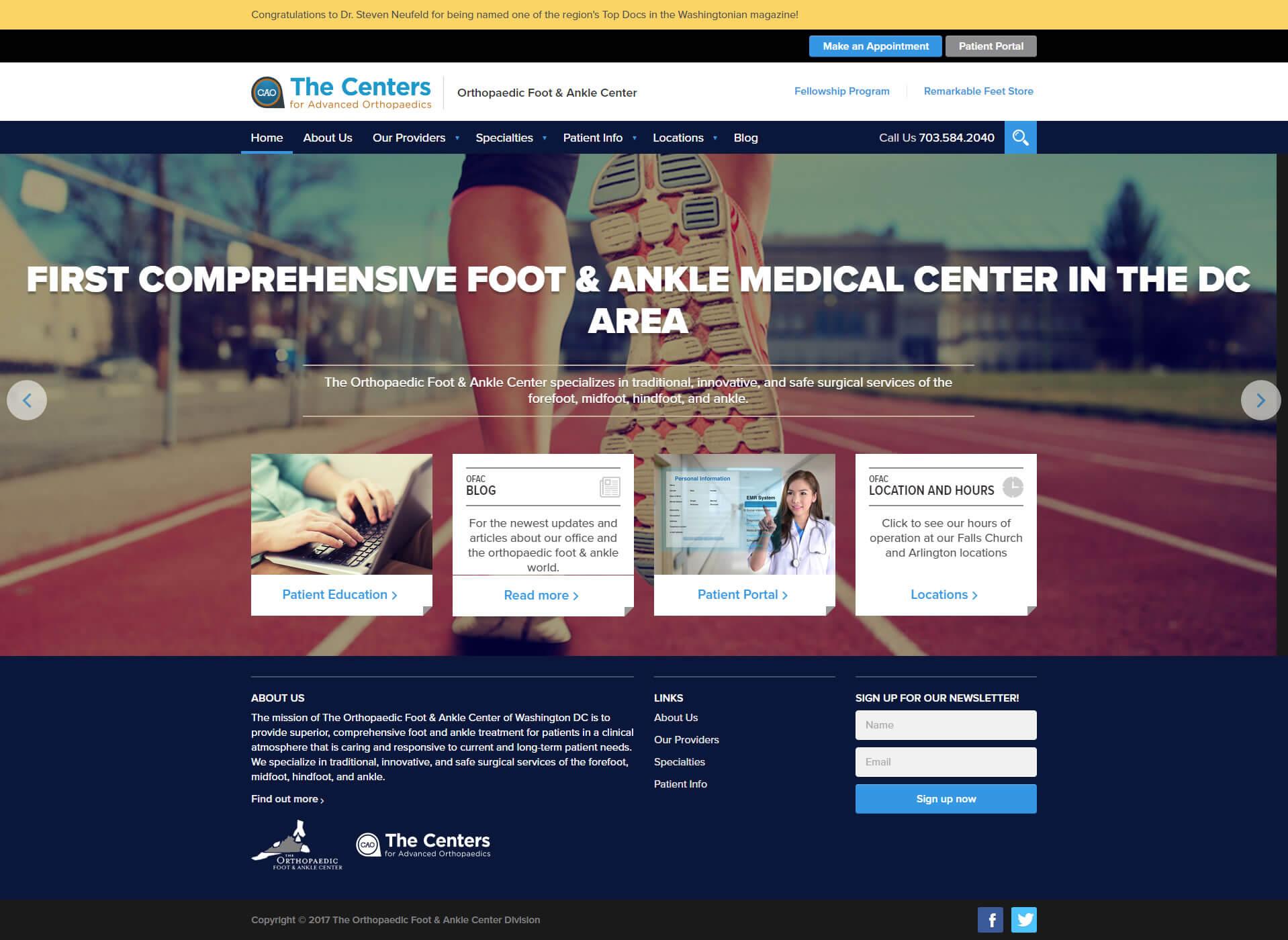 Clinic-website-development